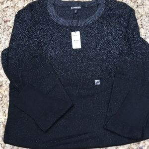 Sparling silver and black long sleeve sweater